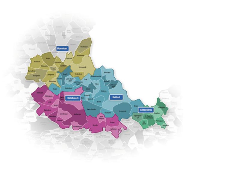 ASSOCIATION FLANDRE ET LYS AUTONOMIE - Périmètre géographique d'intervention des services